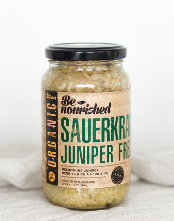 jar of juniper fresh sauerkraut